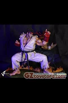 Kinetiquettes - Street Fighter The Beast Unleashed - Ryu 1/4 Scale Statue Diorama