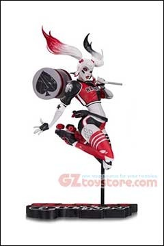 DC Collectibles - Harley Quinn Red White and Black by Babs Tarr 7-inch Statue