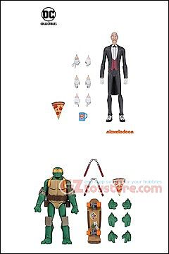 DC Collectibles - Batman vs TMNT - Alfred and Michelangelo 2-Pack Exclusive