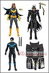 McFarlane - DC Multiverse Action Figures with DC Rebirth Build-A-Batmobile - Set of 3