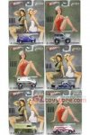 Hot Wheels - 1:64 Scale Nostalgia Pin-up/Nose Art Set Of 6