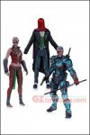 DC Collectibles - Arkham Origins 3-Pack: Deathstroke Unmasked, Joker as Red Hood, Copperhead 7""