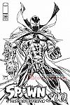 Comic - Spawn #300 Cover B Variant (Todd McFarlane Black & White Cover)